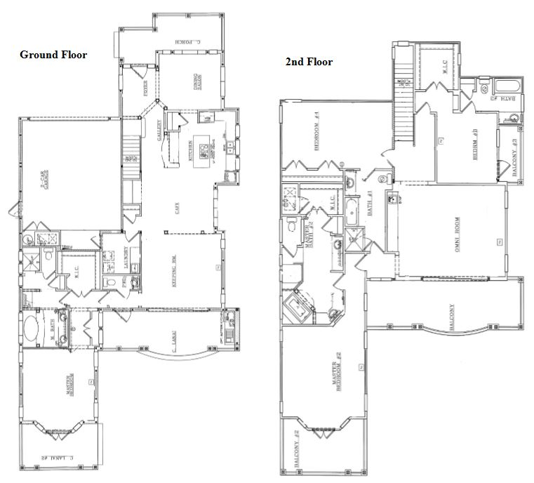Floor Plan for The Sunshine House -  Luxury, Modern Estate Villa with Golf View