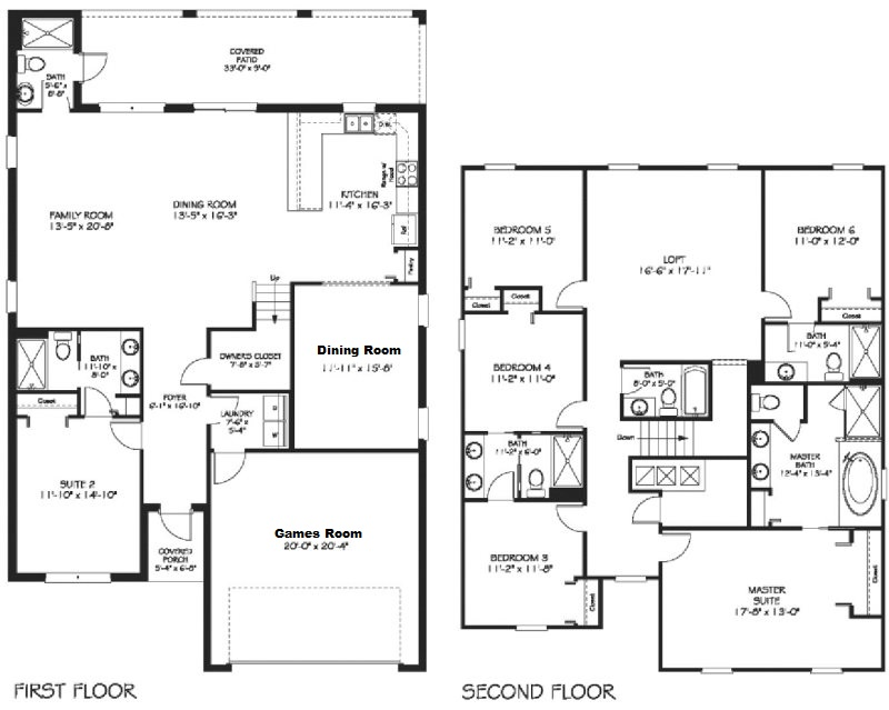 Floor Plan for Family Retreat | 6 Bed Villa with Private Non-Overlooked Pool, Kids Rooms & Games Room with Arcade Games