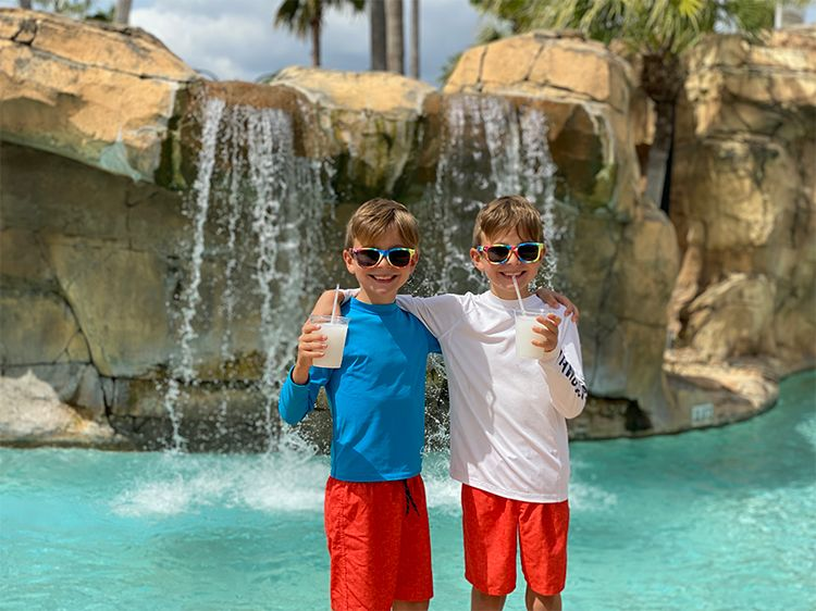 Twins at the Water Park