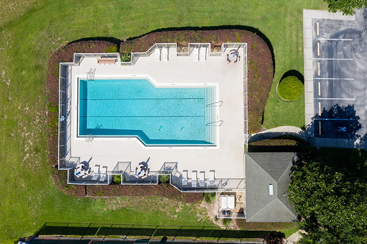 Aerial of Lap Pool at Highland Reserve
