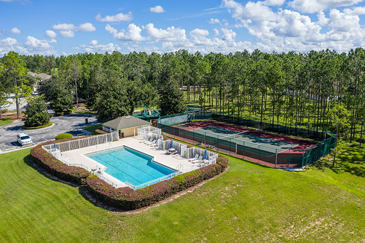 Aerial of Pool and Tennis