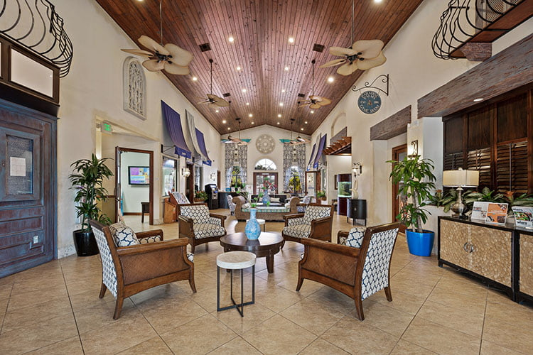 Paradise Palms Interior of Clubhouse