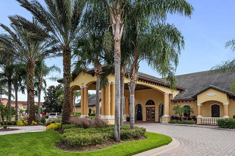 Clubhouse Entrance at Paradise Palms Resort