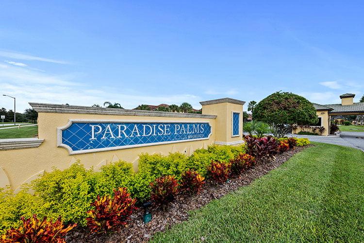 Resort Entrance to Paradise Palms