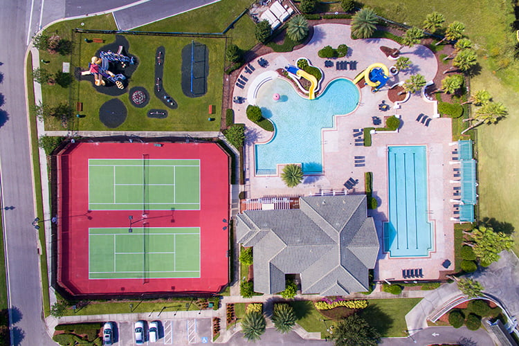Aerial of Providence Resort Complex