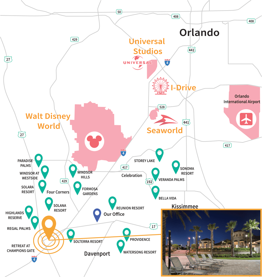 The Retreat at Champions Gate Location Map