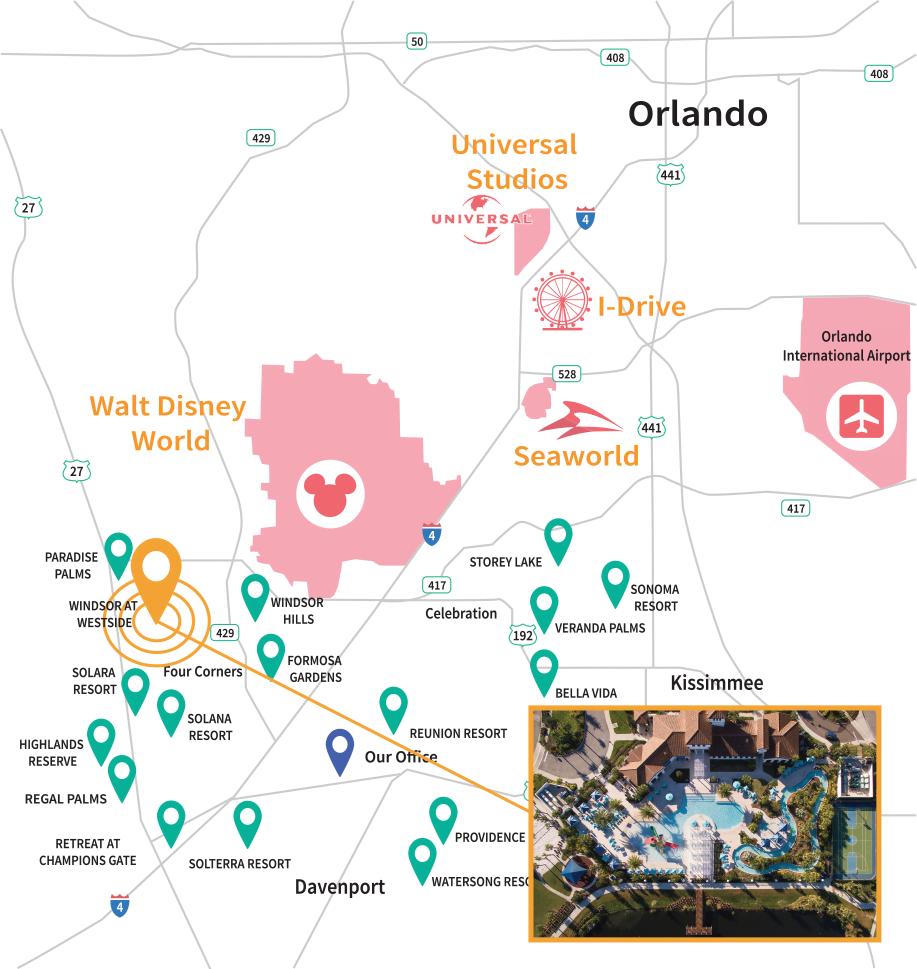 Windsor at Westside Resort Location Map