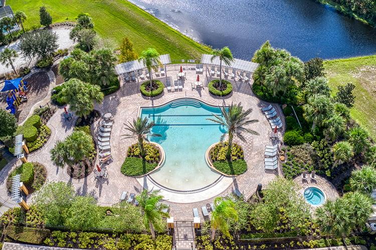 Watersong Resort Pool Aerial