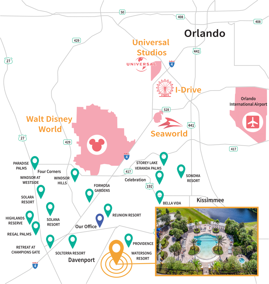 Watersong Resort Location Map