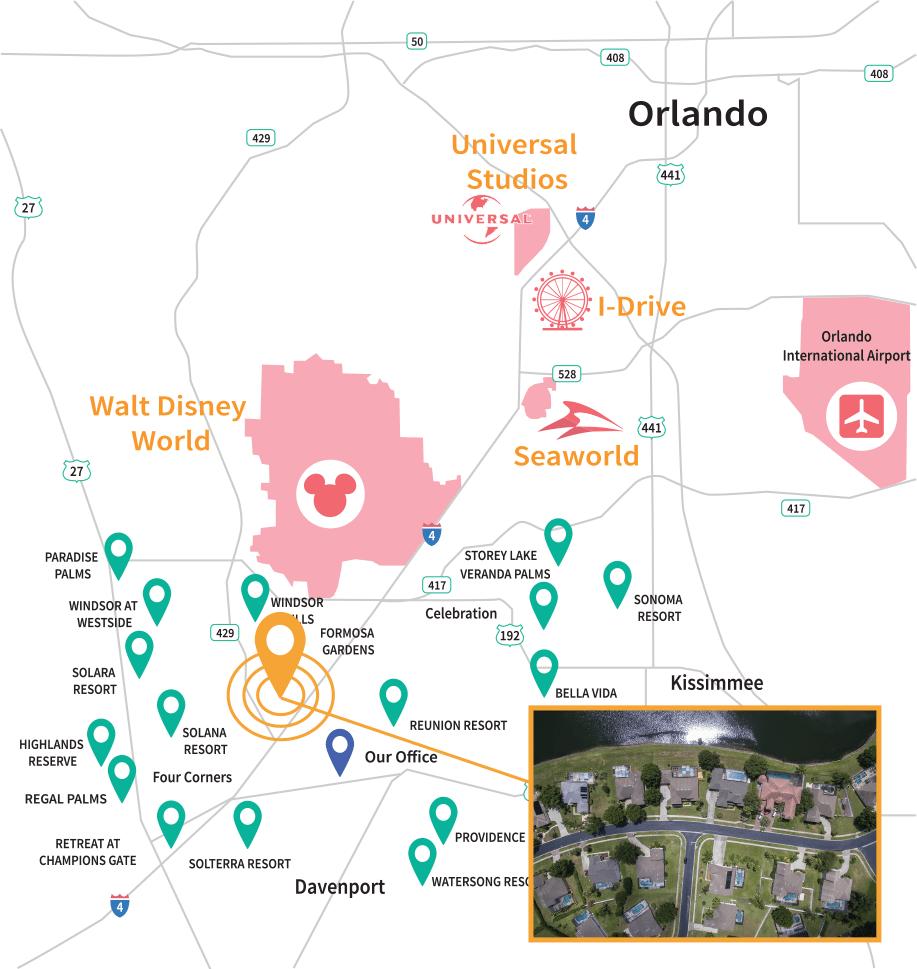 Formosa Gardens Estates Location Map