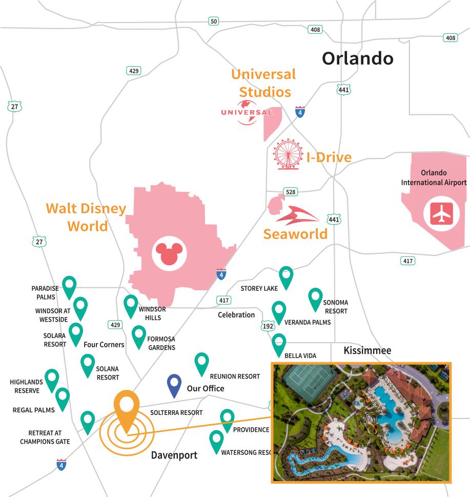 Solterra Resort Location Map