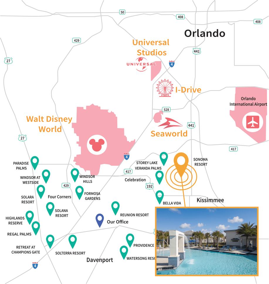 Sonoma Resort Location Map